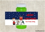 Peanuts Charlie Brown and Snoopy bubble labels birthday Christmas party favors