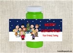 Peanuts bubble labels birthday Christmas party favors
