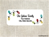 Personalized Christmas Address Labels String Lights