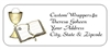 First Communion Address Label - Gold Cross & Chalice