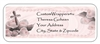 First Communion Address Label - Rosary & Roses (pink, blue or yellow)