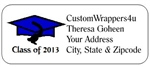 Graduation Address Label - Cap