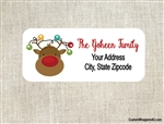 Personalized Christmas Address Labels Reindeer Christmas Lights