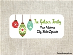 Personalized Christmas Address Labels Reindeer Ornaments
