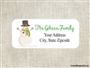 Personalized Christmas Address Labels Snowman with Heart