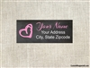 Address Label - Chalkboard Heart