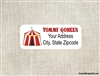 Address Label - Circus Carnival Tent