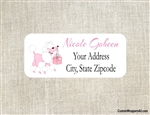 Address Label - Pink Poodle