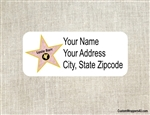Address Label - Hollywood Star