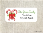 Personalized Christmas Address Labels Candy Canes
