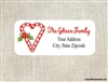 Personalized Christmas Address Labels Candy Cane Heart