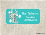 Personalized Christmas Address Labels Noel