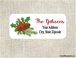 Personalized Christmas Address Labels Merry Christmas