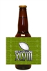Super Bowl Beer Bottle Label - Dark Green
