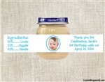 Baby Food Jar Label First Birthday Party Favors