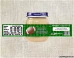 Football Baby Food Jar Label First Birthday Party Favors
