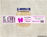 Butterfly Baby Food Jar Label First Birthday Party Favors
