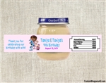 Doc McStuffins baby food jar labels, Doc McStuffins birthday party favors