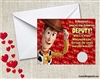 Toy Story Woody Valentine's Day Cards