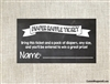 Baby Shower Diaper Raffle Ticket - Chalkboard