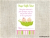 Baby Shower Diaper Raffle Ticket - Peas in a Pod 2