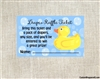 Baby shower diaper raffle ticket rubber duck