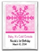 Christmas hot chocolate label party favors, hot chocolate bar