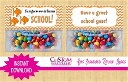 Back to School Treat Bag Topper Instant Download