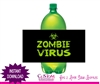 Halloween soda bottle label instant download Zombie Virus