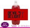 Halloween soda bottle label Devil's Delight instant download