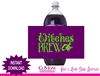 Witches Brew soda bottle label halloween instant download
