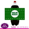 Football soda bottle label instant download super bowl sideline soda