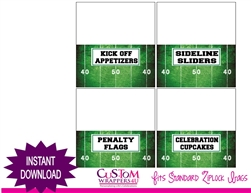 Super Bowl party table tents instant download