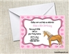 horse birthday party invitation