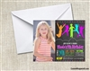 Skyzone Trampoline Park birthday party invitation with photo