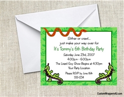Reptile Party Invitation