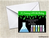Science Slime Birthday Party Invitation