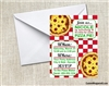 pizza party birthday invitation
