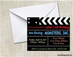 Birthday Invitation - Hollywood Movie Director's Clapper Board