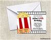 Birthday Invitation - Movie Popcorn