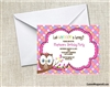 Birthday Invitation - Owl
