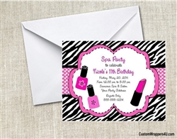 Birthday Invitation - Nail Polish & Lipstick