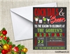 Christmas Party Invitation Cocktails and Cheers Chalkboard