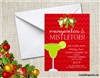 Margaritas and Mistletoes Christmas Holiday Party Invitation