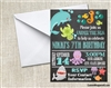 Under the Sea chalkboard birthday party invitation