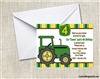 Birthday Invitation - Green Tractor