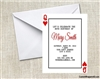 Poker Card Invitation