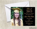 Graduation Announcement / Invitation - Photo 3 (colors can be changed)