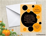 Halloween Invitation - Polka Dots