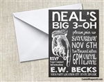 adult birthday invitation chalkboard